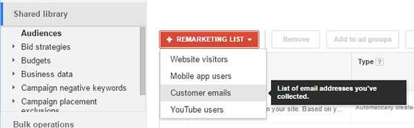 AdWords Custom Audiences