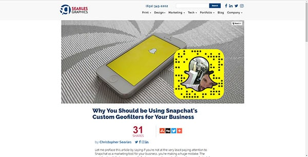How to use Snapchat custom geofilters for your business
