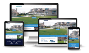 Irrigation Solutions homepage on various devices and screen sizes
