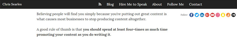 Spend a disproportionate amount of time promoting your content