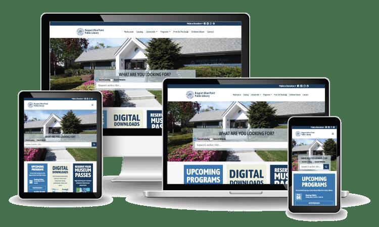 Bayport-Blue Point Library Website Design