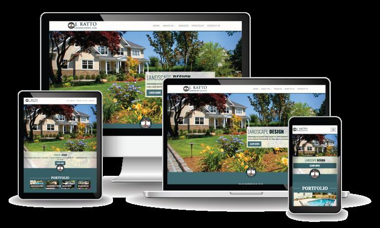 Website design for J Ratto Landscaping